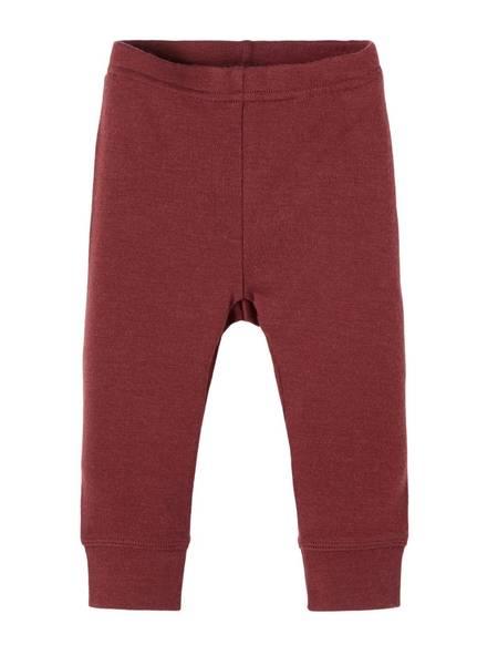 Bilde av NbfWillit wool legging - Red Mahogany