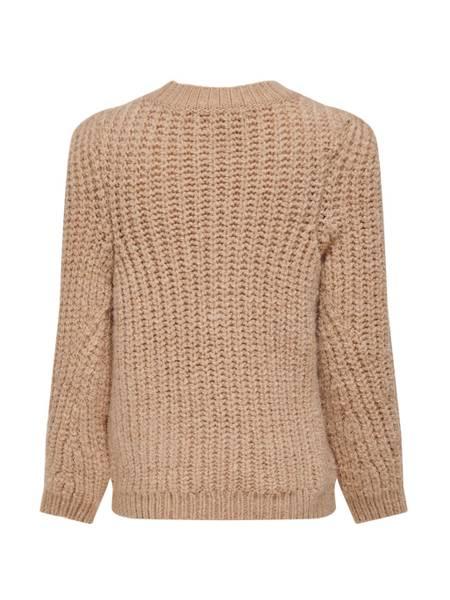 Bilde av KonErica l/s pullover knit - Beige