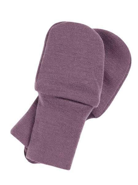 Bilde av NbfWillit wool mittens uten tommel - Black Plum