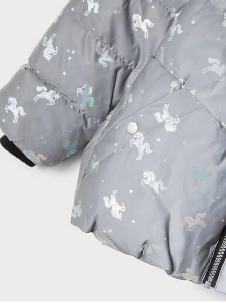 Bilde av NmfMaya reflective jacket - Frost Gray