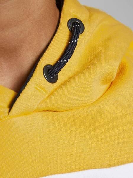 Bilde av JjeLogo blocking sweat hood - Yolk Yellow