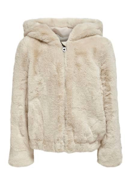 Bilde av KonMalou faux fur hood jacket - Oatmeal