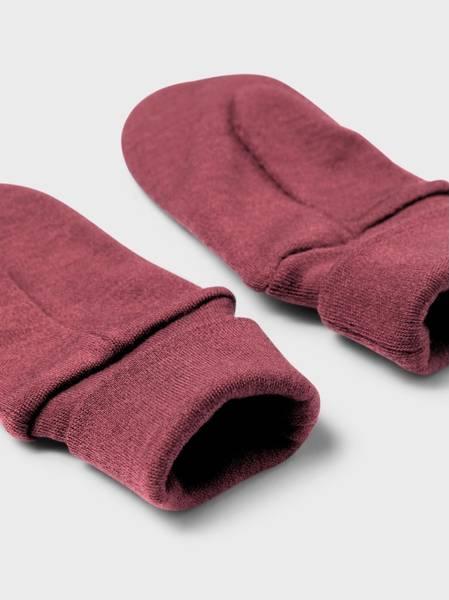 Bilde av NmfWillit wool mittens w/thumb - Red Mahogany