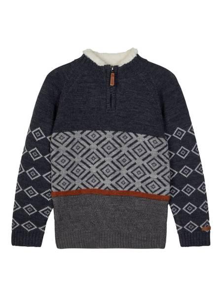 Bilde av nkmWrissa wool ls knit turtleneck - Ombre blue