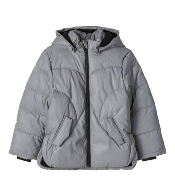 Bilde av NkfMaya Reflective Jacket Girl - Frost Grey