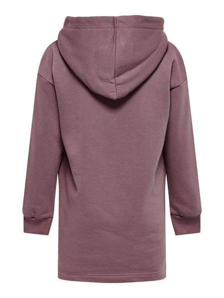 Bilde av KonEvery life hoodie sweat dress - Rose Brown