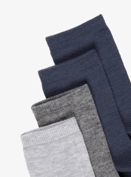 Bilde av NkmWak wool 4-pk sock - Grey Melange