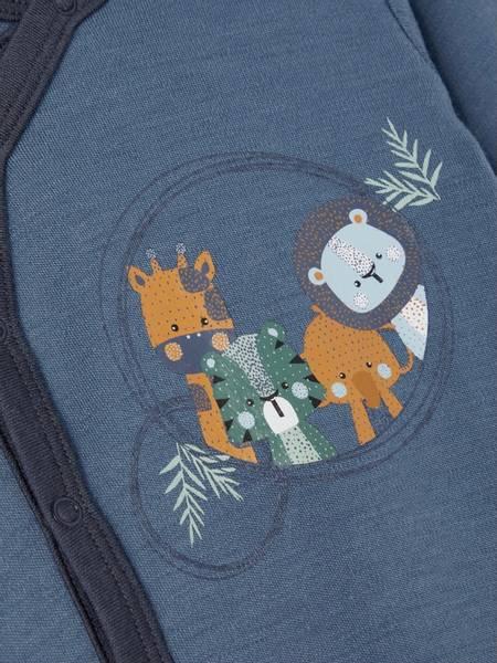 Bilde av NbmWillit wool ls wrap body - China Blue