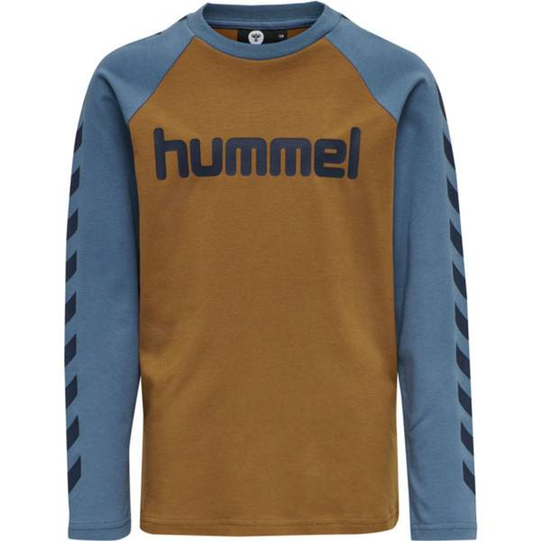 Bilde av HmlBoys t-shirt ls - Rubber/China Blue