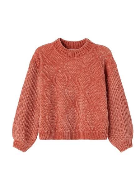 Bilde av NkfNoelia ls boxy knit - Etruscan red